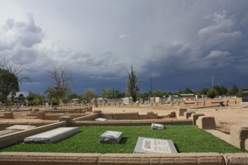 Good To Grow, Liza's photos, rundown cemetery in Albuquerque